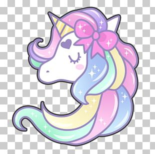Unicorn Watercolor Painting PNG