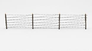 Barbed Wire Fence Wire Obstacle Low Poly CGTrader PNG