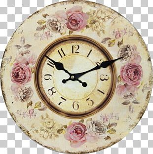 Shabby Chic Clock Rustic Furniture House PNG