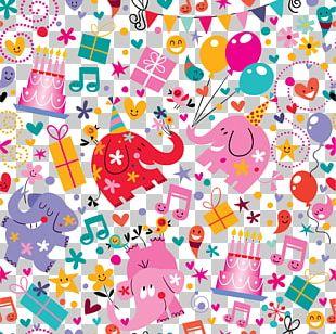Birthday Pattern PNG