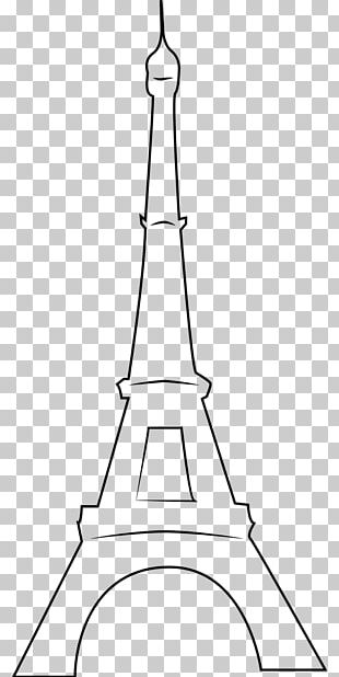 Eiffel Tower Black And White Drawing Photography PNG