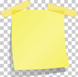 Paper Post-it Note Adhesive Tape Yellow PNG