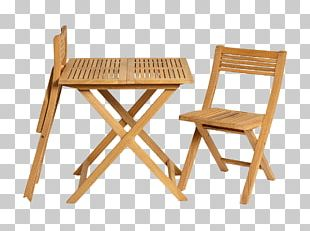 Table Garden Furniture Folding Chair Wood PNG