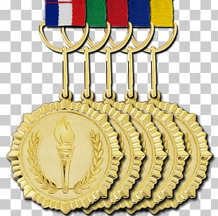 Gold Medal Silver Medal Bronze Medal Award PNG