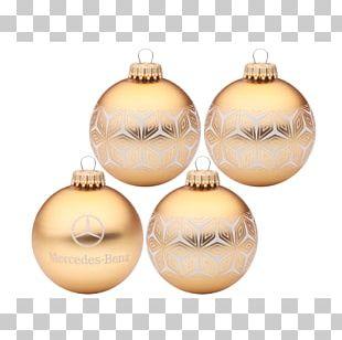 Christmas Ornament MERCEDES-BENZ Weihnachtskugeln 4er Set Gold Christmas Day PNG