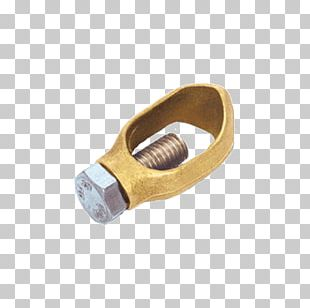Brass Groundbed Clamp Electrode PNG