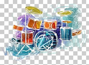 Drawing Watercolor Painting Music Drums PNG
