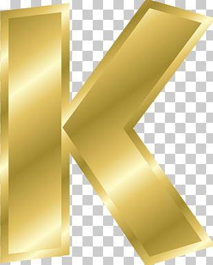K Letter Case Alphabet Gold PNG