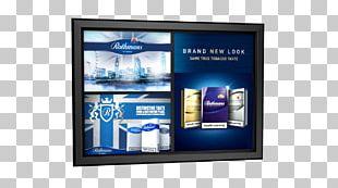 LED-backlit LCD Display Advertising Computer Monitors Multimedia Television PNG