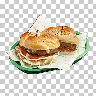 Slider Buffalo Burger Cheeseburger Breakfast Sandwich Fast Food PNG