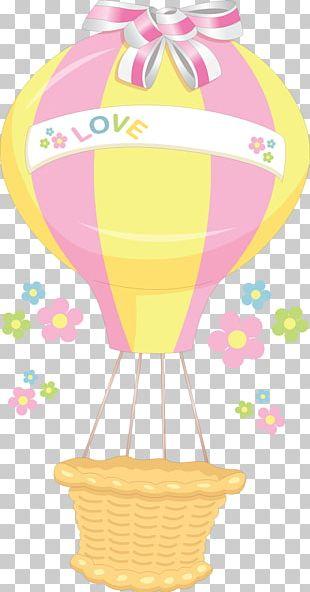 Hot Air Balloon Drawing Basket PNG