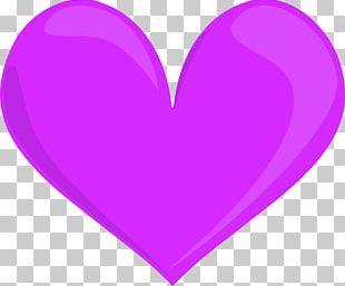 Lilac Heart Purple Violet Magenta PNG