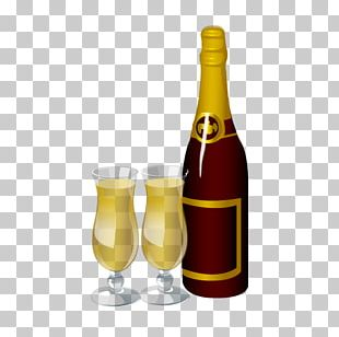 Wine Champagne Bottle Cup PNG