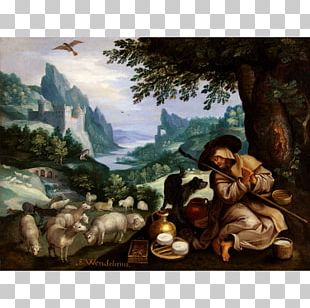 Landscape Painting River Landscape With Horsemen Landscape With The Flight Into Egypt Artist PNG