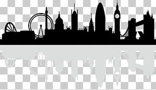 London Skyline Silhouette PNG