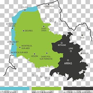 Calais Boulogne-sur-Mer Arras Le Touquet Map PNG