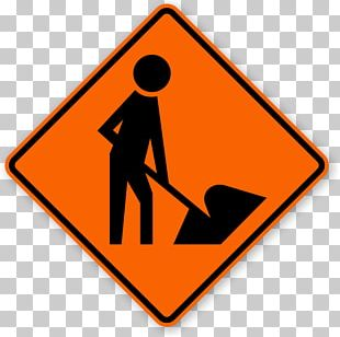 Roadworks Construction Site Safety Architectural Engineering Sign PNG