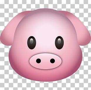 Pig Emoji Emoticon Sticker PNG
