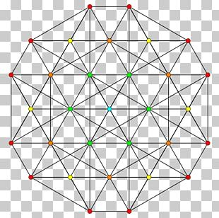 Sacred Geometry Circle Hypercube 5-demicube PNG