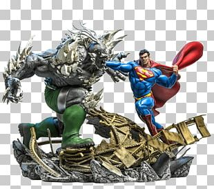 Doomsday Superman Batman Comic Book Art PNG