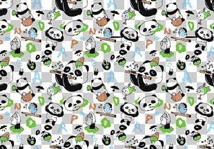 Giant Panda Bear Pattern PNG