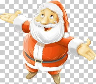 Santa Claus Reindeer Christmas Child Wish List PNG