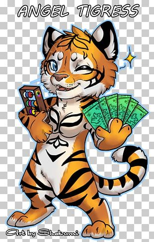 Tiger Cat Illustration Cartoon PNG