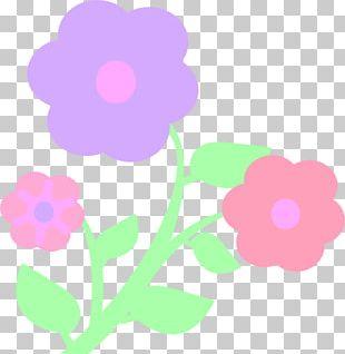 Pastel Flower Drawing PNG
