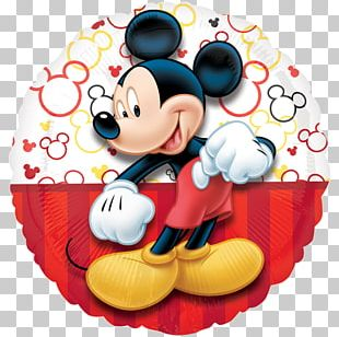 Mickey Mouse Minnie Mouse Balloon Birthday Flower Bouquet PNG