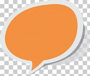 Speech Bubble Orange PNG