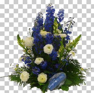 Floral Design Blue Cut Flowers White PNG