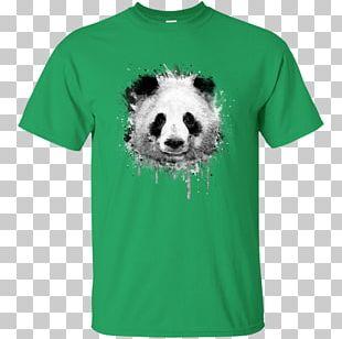 T-shirt Watercolor Painting Giant Panda Art PNG