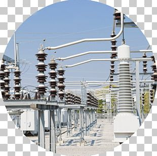 Electrical Substation Electricity Electrical Grid High Voltage Electric Power PNG