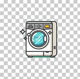 Washing Machine Towel Cartoon PNG