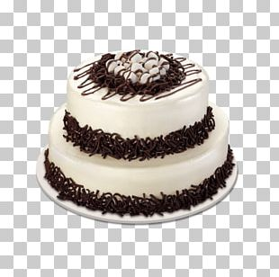 Black Forest Gateau Chiffon Cake Frosting & Icing Cream Birthday Cake PNG