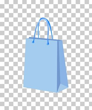 Paper Blue Shopping Bag PNG
