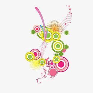 Colored Circles Shading PNG