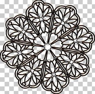 Floral Design Symmetry Line Pattern PNG