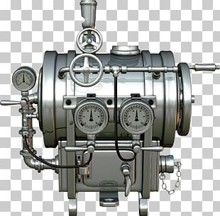Industrial Revolution Steam Engine Steampunk Machine PNG