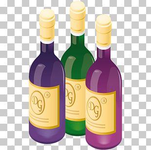 Glass Bottle Liqueur Drink PNG