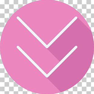 Line Pink M Angle Font PNG