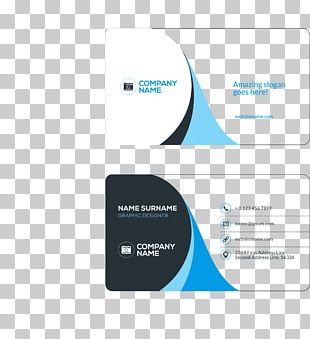 Business Card Visiting Card Flat Design PNG