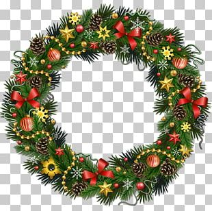 Rudolph Christmas Wreath PNG