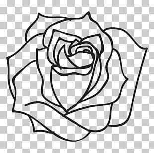 Black And White Drawing Rose PNG