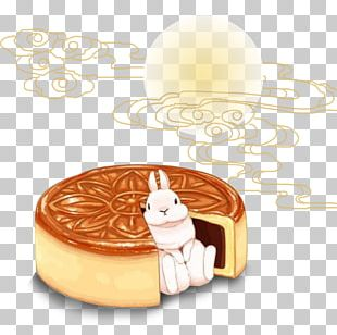 Mooncake Mochi Food Mid-Autumn Festival Drawing PNG