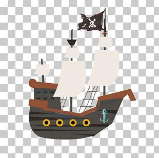 Piracy Ship Cartoon PNG