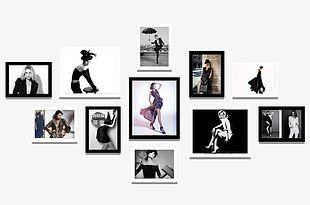 Women's Clothing Store Fashion Model Photo Wall PNG