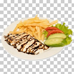 French Fries Gyro Crispy Fried Chicken Street Food PNG