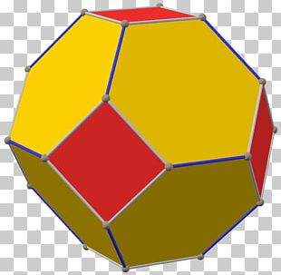 Net Polyhedron Archimedean Solid Geometry Truncated Octahedron PNG