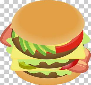 Hamburger Cheeseburger Fast Food Veggie Burger Bacon PNG